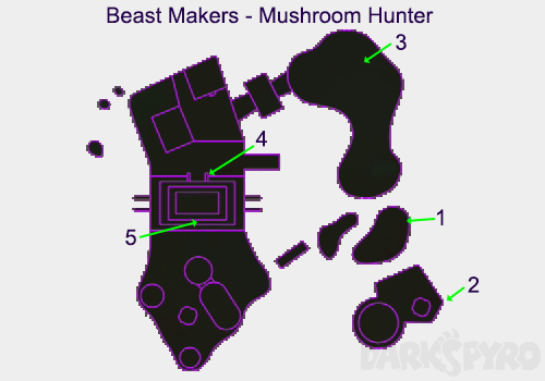 Beast Makers Map - Mushroom Hunter Map